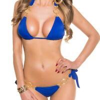 KouCla ALLURE Women's Top & Bottom Swimwear Swimsuit 2-Piece Bikini Set - S/M/L