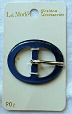 Blue La Mode Metal Plastic Buckle on Original Card Sewing Belts