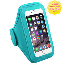 Vertical Pouch Universal Blue Sport Armband for iPhone 7 Plus, iPhone 6s/6 Plus