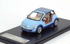 FIAT 500 TENDER TWO CASTAGNA MILANO 2008 LIGHT BLUE PREMIUM X PRO255 1/43 IXO