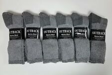 12 Pair Heather Grey Acrylic/MERINO Wool Blend Socks Men's Lg-XL FREE SHIP!