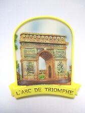 Paris Arc de Triomphe Poly Magnet Frankreich France Reise Souvenir