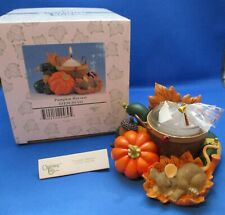 Charming Tails~Fall~Thanksgiving~P umpkin Harvest~Candle~93/111~Mib