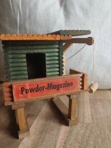 Oehme Powder Magazine Westernstadt Elastolin Timpo Fort DDR Holzhäuser