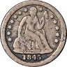1845-O Seated Liberty Dime Nice F Details Nice Strike