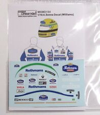 1/18 A.Senna Figure Decal Williams 1994 for Minichamps