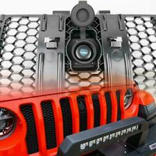 Hood Lock W/Key W/Grille Kit Assembly Compatible For 2018-2019 Jeep Wrangler JL