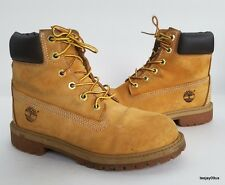 Boy's Youth Timberland 12909 Hiking Trail Wheat Nubuck Boots Size 4 M