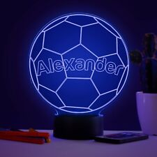 Personalised Football Colour Changing LED Night Light Children's Birthday Gift