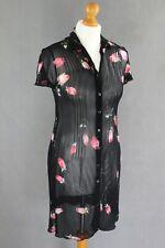 PHILOSOPHY di ALBERTA FERRETTI Sheer SHIRT STYLE KAFTAN DRESS  Size IT44 - UK 12