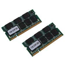 2x 1 Go 1G Memoire RAM PC2100 DDR CL2.5 DIMM 266MHz 200 broches pour ordina H5V4