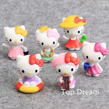 6pcs Hello Kitty PVC Action Figures Cake Toppers Playset Toy Doll Kids Gifts