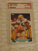 1993 Topps Brett Favre Card #250 PSA 8 NM-MT Green Bay Packers,Brett Favre Pop 8
