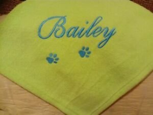 Personalised pet or baby blanket, fleece, cat, dog, embroidered name accessories