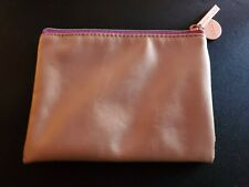 New/ Other Maybelline Essie Gold Cosmetic Zip Pouch Make Up Bag