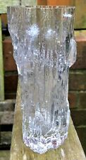 Vintage Tapio Wirkkala Avena Ice Glass Vase. No: 3429.