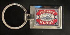 Englands Glory Matchbox - high polished metal keyring