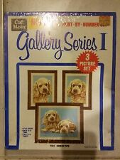 Gallery Series 1 Oil Paint By Numbers 3 Picture Set Horses Craft Master SEALED