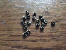 Tono de bronce plana Daisy espaciador granos Aprox 4 Mm x 150