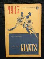 Vintage 1947  BOSTON RED SOX VS New York Giants Program M247