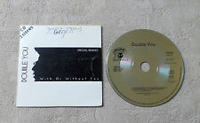 """AUDIO/DOUBLE YOU """"WITH OR WITHOUT YOU SPECIAL REMIXES"""" 1992 CDS 2T PANIC RECORDS"""