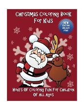 Christmas Coloring Book For Kids: Hours Of Coloring Fun For Chi... Free Shipping