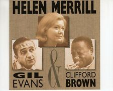 CD HELEN MERRILL GILL EVANS & CLIFFORD BROWN		1990 EX+  (B4530)