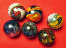 "6 JABO JOKER ENCORE  Boulder Multi-Color Swirl Marbles. 29/32"" to 31/32""."
