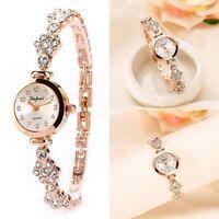 Fashion Women's Stainless Crystal Steel Dial Quartz Bracelet Luxury Wrist Watch