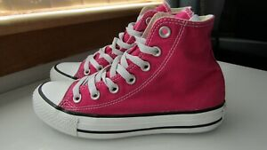 Converse All Star boots pink size 3 ladies / girls