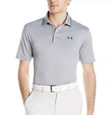Men?s Small S Under Armour Golf $70 Coldblock Address Polo Shirt 1272321 Gray