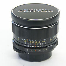 Pentax 28mm f/3.5 Super Takumar Wide angle lens with original lens caps