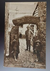 Cornwall, St Ives, The Old Arch. Black and white postcard.