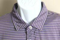 RLX Ralph Lauren Men's gray and purple striped short sleeve golf polo shirt XL