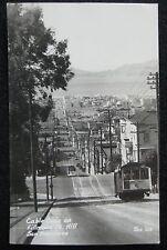 San Francisco CA Cable Cars on Fillmore Street Hill Zan 207 Real Photo Postcard