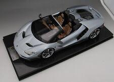1/12 scale Looksmart Lamborghini Centenario Roadster Silver  Carbon  Base As is