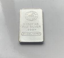 1oz Engelhard 999 Silver Plated Bar