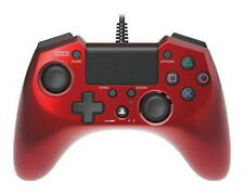 PS4 PS3 Pad FPS Plus Turbo Rapid Fire Wired Controller Gamepad Hori Red Japan