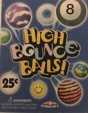 "250 Super Bouncy Balls Bulk Vending Gumball Machine 27mm 1"" Superballs"