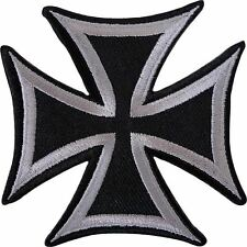Maltese Iron Cross Chopper Biker Heavy Metal Iron On Embroidered Badge Patch