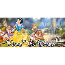 Disney Snow White Personalised Baby On Board Car Sign (2)