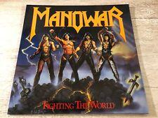 Manowar Fighting The World Vinyl LP 1987 ATCO Records 790 563-1