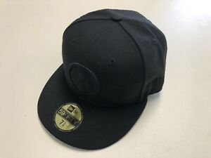 Pittsburgh Steelers Hat Cap New Era 59Fifty All Black Men's Size 7-3/8