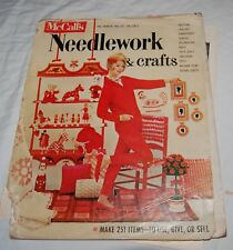 Vintage McCalls Needlework Crafts Magazine Fall Winter 60s Fashion Purses Sewing