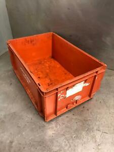 600x400 Euro Stacking Heavy Duty Plastic Storage Boxes Crates 60x40cm x5