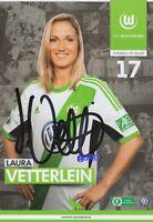 Laura VETTERLEIN + VfL Wolfsburg + Saison 2013/2014 + Original Autogrammkarte +