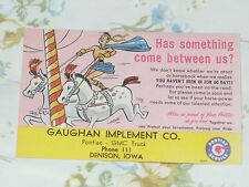 1949-1954 Pontiac Reminder Post Card - 'Has something come between us?'  Circus