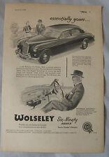 1957 WOLSELEY SIX-NOVANTA SERIE II ORIGINALE annuncio