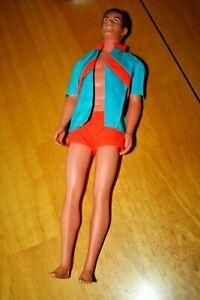 Vintage TALKING KEN DOLL #1111 BL OSS & Beach Jacket 1969 Mute Hong Kong Barbie