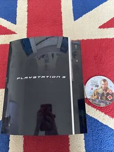 Sony CECHK03 PlayStation 3 80GB Console Only Black PS3 Tested Working
